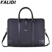 Kalidi мужская кожаная сумка для ноутбука защитный Бизнес плеча чехол для 13 13.3 14 15 15.6 дюймов Тетрадь сумка