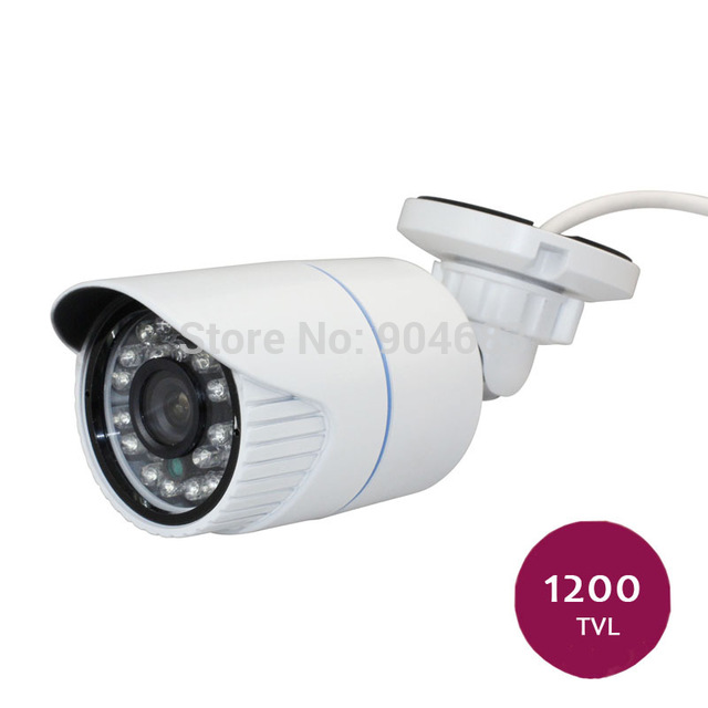 1 PCS white color CMOS 1200TVL Sony Outdoor Indoor Waterproof IR-Cut video Security CCTV Bullet Camera free shipping new 1 3 sony ccd hd 1200tvl waterproof outdoor security camera 2 pcs array led ir 80 meter cctv camera