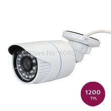 1 pcs branco cor cmos 1200tvl sony ao ar livre indoor de segurança de vídeo à prova d' água ir-cut cctv câmera da bala