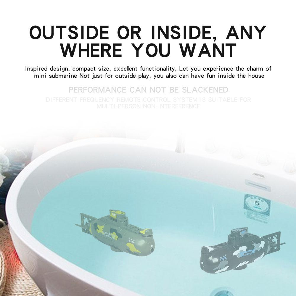 Image 3 - Mini Remote Control Simulation Submarine Model Camouflage RC Under Water Boat Submarine Bathtub Pools Toy Bath Toys for Kids-in RC Submarine from Toys & Hobbies