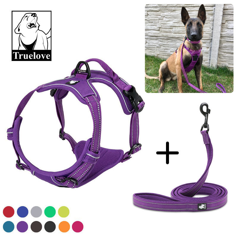 Truelove No Pull Dog Harness And Leash Set Reflective Soft Padded Chihuahua Vest Harness Leash For Dog Pet shop Dropshipping