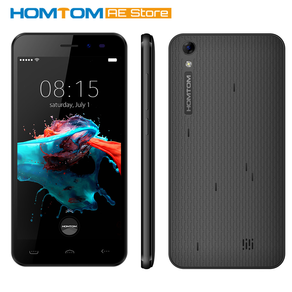 "Цена за Homtom ht16 смартфон 3 г android 6.0 quad core mtk6580 5.0 ""1 ГБ RAM 8 ГБ ROM Dual Фотоаппараты Умных Жестов, Проснуться Жест Телефон"