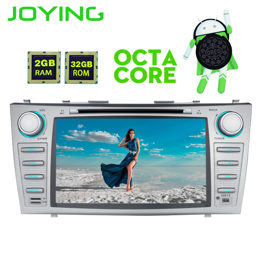 Joying 8 Double 2 Din Android 8.0 Car Radio Stereo Audio GPS Navigation For Toyota Camry Head Unit Multimedia Player With DVD