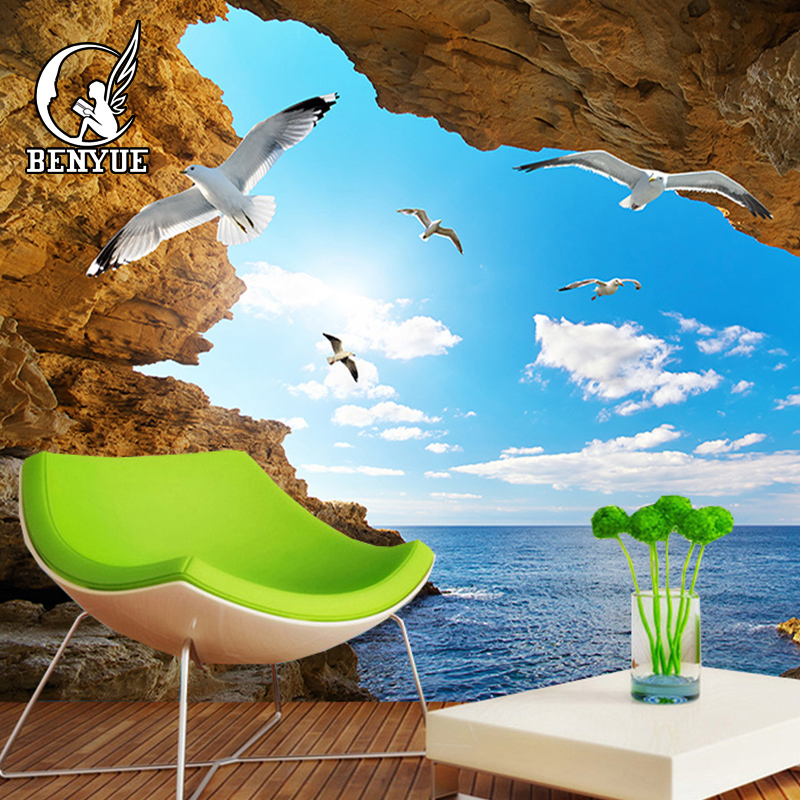 Wall Mural Aquarium Mural Decoration Colourful Underwater World Sea Dweller Ocean Fishes Dolphin Coral Reef Clownfish kads bop015 018 clownfish