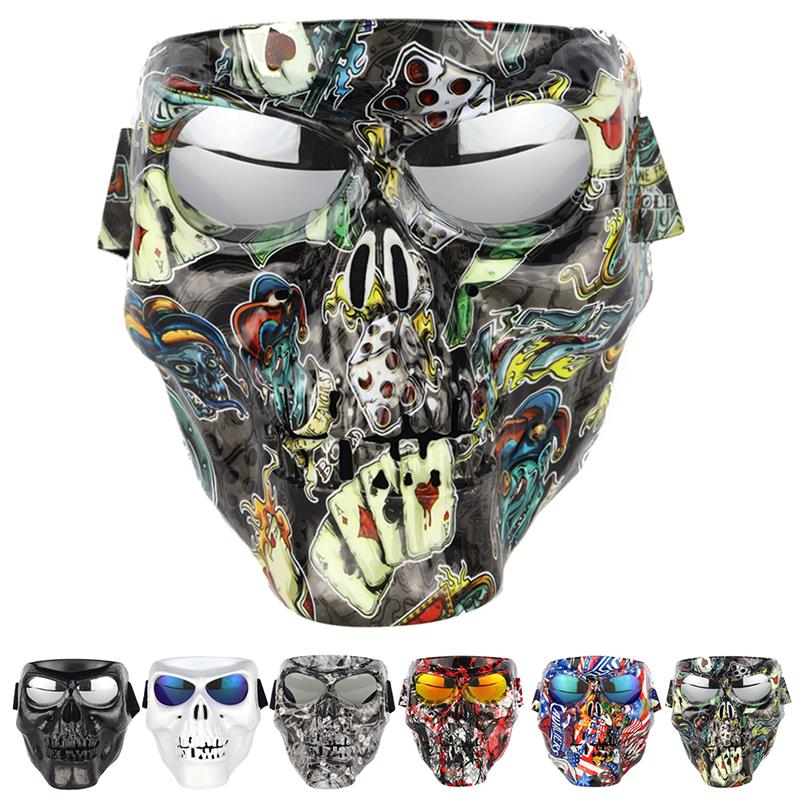 Fashion Windproof Goggles Motorcycle Goggles Mask Full Face Windproof Motorcycle Mask Halloween Mask Clothing Accessories