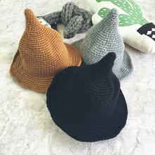 2017 Autumn Winter New Hot Fashion Female Knitting Solid Color Campaniform Caps  Hats Women Casual Thick c431f9b48abe