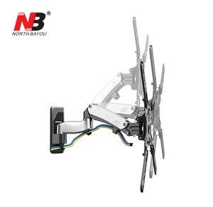 """Image 4 - NB F450 エアプレスガス春デュアルアーム 40 50 """"8 16 キロフル motion モニター壁ブラケット液晶プラズマテレビマウント液晶ホルダーサポート"""