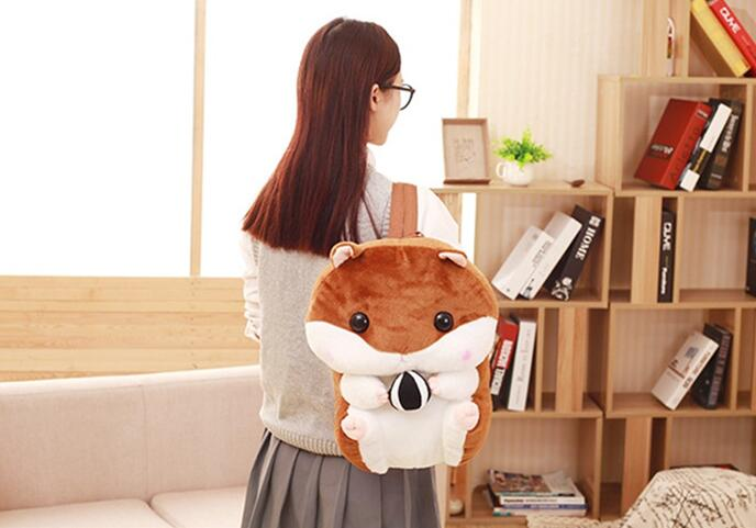 gift birthday toy doll shoulder Candice Guo stuffed hamster bag guo! 1pc chubby plush girl backpack soft squirrel Super cartoon cute 2