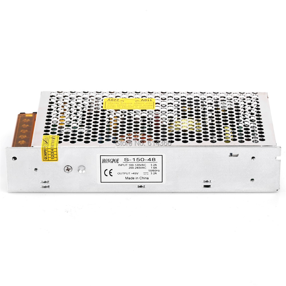1PCS 150W 48V Power supply 48V3.2A 150W led power supply S-150-48 SMPS/PSU AC-DC 110/230VAC 3pcs lot stk412 150 stk412 two channel shift power supply audio power amplifier ics 150w 150 w