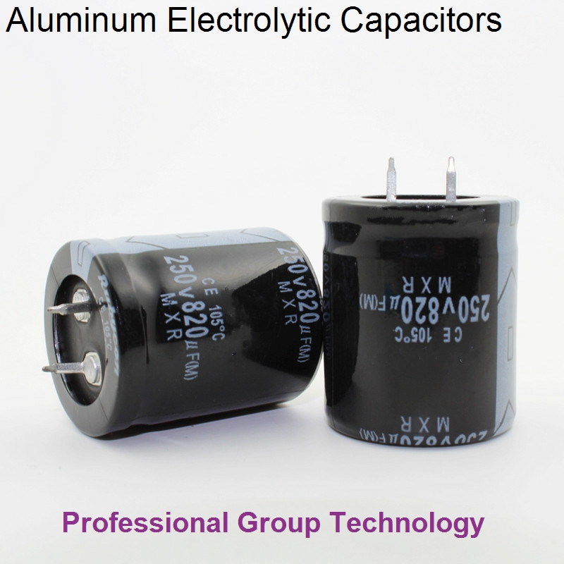 9pcs EC933 Good quality 250v820uf Radial DIP Aluminum Electrolytic Capacitors 250v 820uf ...