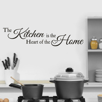 The Kitchen Home Decor Wall Sticker Decal Bedroom Vinyl Art Mural Lovely Letter Text DIY Stickers Room Wall Decorations Stickers