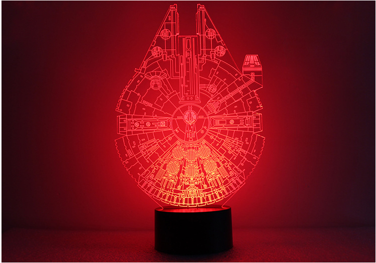 1pcs/set 3D Novelty Light Star Wars Death Star 7 Colors Changing LED Lamp NEW Luminaria  ...