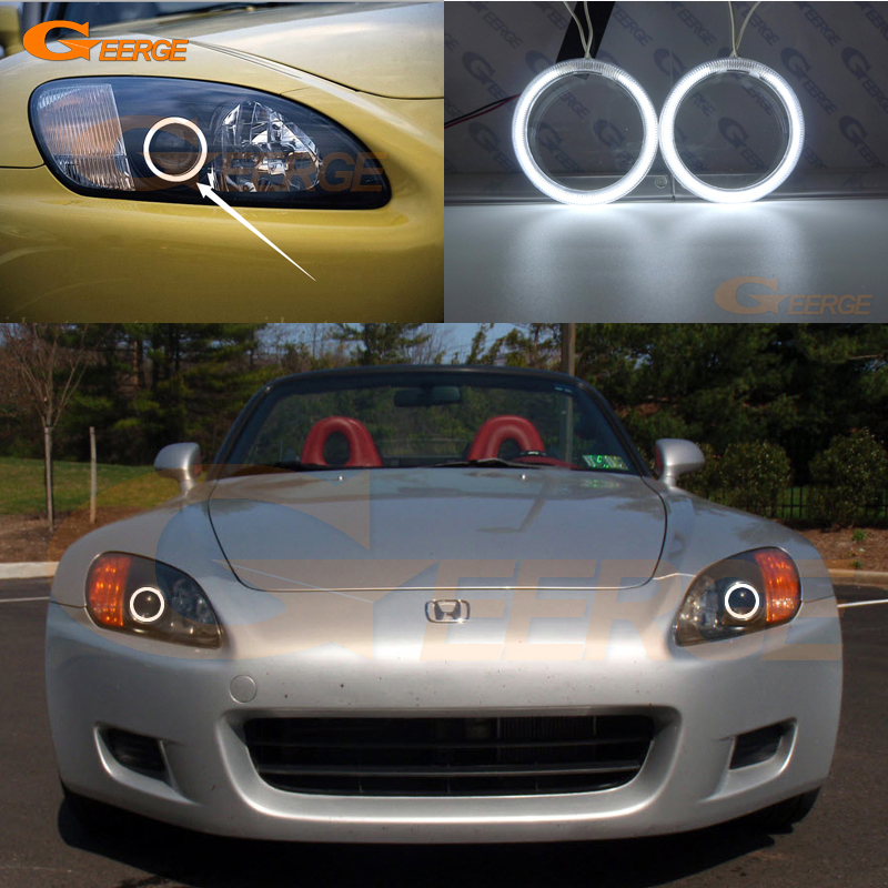 For Honda S2000 1999 2000 2001 2002 2003 Excellent angel eyes Ultra bright illumination CCFL angel eyes halo Ring kit for alfa romeo 147 2000 2001 2002 2003 2004 halogen headlight excellent ultra bright illumination ccfl angel eyes kit halo ring