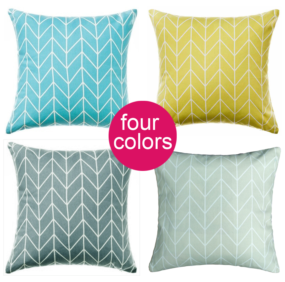 Geometric square Pillowcase Pillow Cushions Yellow Blue