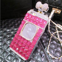 For IPhone 5 6 7 8 Plus Luxury Girls Fashion Bling Diamond Glitter Rhinestone Mirror Perfume