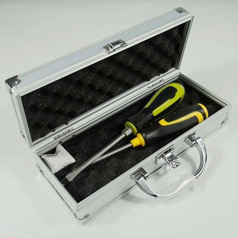 Small Portable Aluminum Alloy Hardware Toolbox Parts Box Instrument Case Protection Storage Box 27x11x7cm