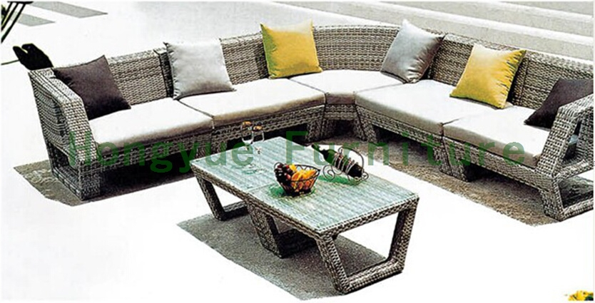 Brown rattan sectional garden sofa sets direct factory