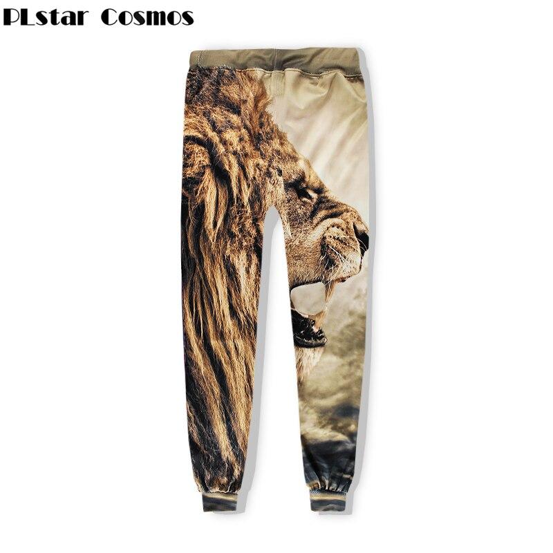 PLstar Cosmos Free shipping 2018 New Fashion Sweat Pants animal Lion Lion roar 3d Print For Men/Women casual Joggers Pants