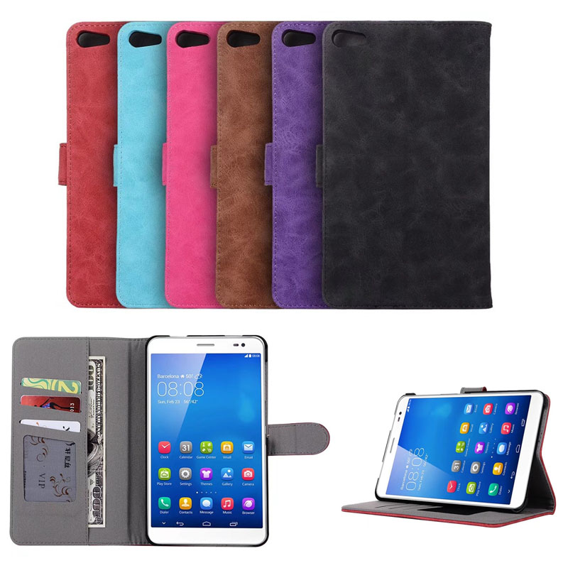 M2 Lite PLE-703L Business retro Ultra thin Filp leather Case cover For Huawei MediaPad T2 7.0 Tablet Cover with Card slot