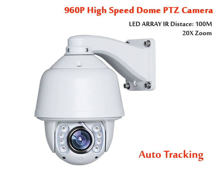 5 IP camera outdoor PTZ 960p 20X optical zoom auto tracking high speed dome Ambarella full HD onvif led array IR 100M 1.3mp cam onvif hd 2 0mp 20x optical zoom 100m ir distance 1080p ptz cctv wired camera speed dome camera with auto wiper