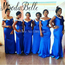 Bridesmaid Dresses Royal Blue Vestido De Festa De Casamento Party Dresses Vestidos De Madrinha Appliques Sexy Mermaid Dresses