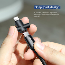 BASEUS Portable U-shaped Type-C USB & Charging Cable Support Type-C to Lightning/Type-C to Micro Cable For iPhone & Android