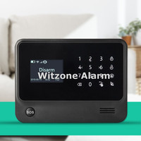 Complete Black Color WIFI GSM Alarm Panel Main Unit Newest Version W Larger LCD Android IOS