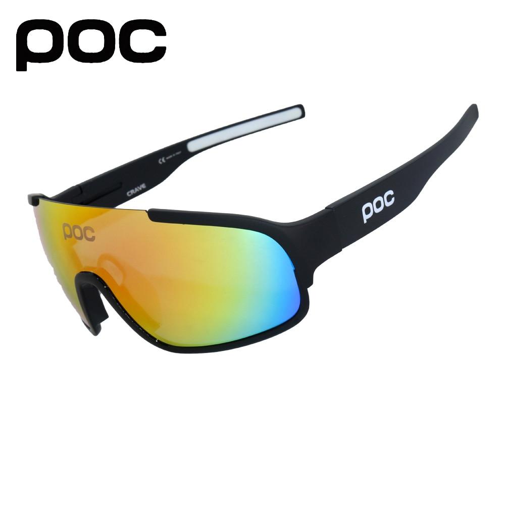 4 Lens UV400 Polarized SunGlasses Mountain Bike Goggles Eyewear Bicycle Glasses 2019