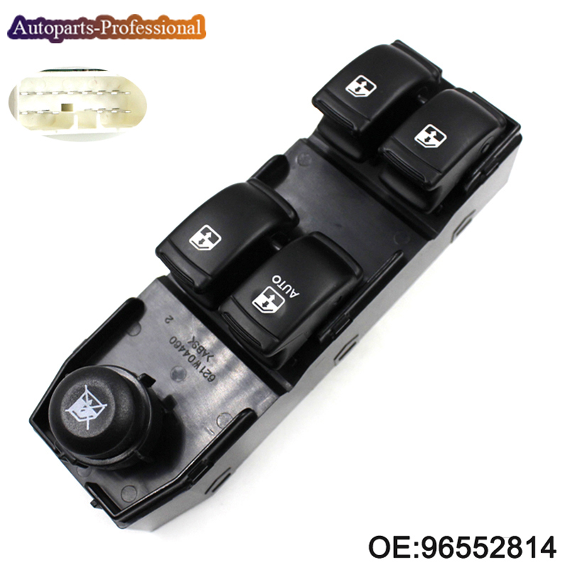 Car High Quality Window Lifter Switch For Chevrolet Optra Daewoo Lacetti Front Left 96552814 Master Power Window Switch