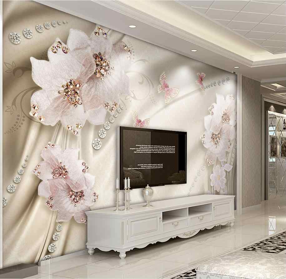 custom 3d wallpaper Luxury flowers 3d photo wallpaper living room bathroom wall painting nonwoven wallpaper modern