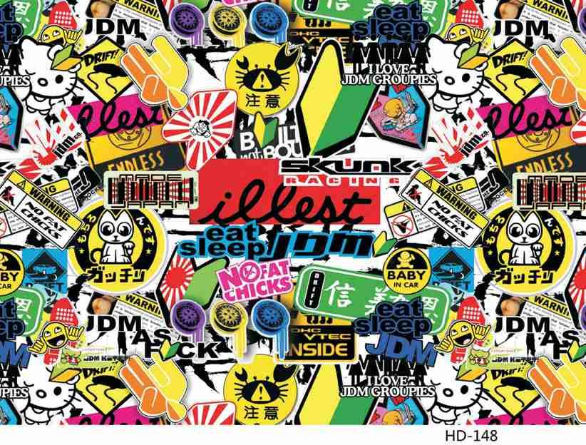 Sticker Bomb Sheet Jdm Euro Drift Car Stickers Vinyl