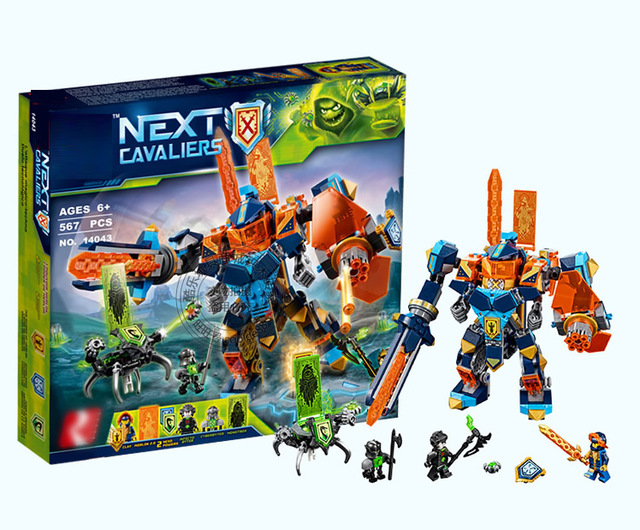 14043 567Pcs Movie Knights High Tech Wizard Showdown Building Brick Boys Develop Toys Gift compatible with lego city 72004