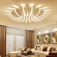 2017 современный светодиодный потолочный Люстра Светильники для гостиной спальня алюминиевые люстры AC85-265V Home Decor светильники