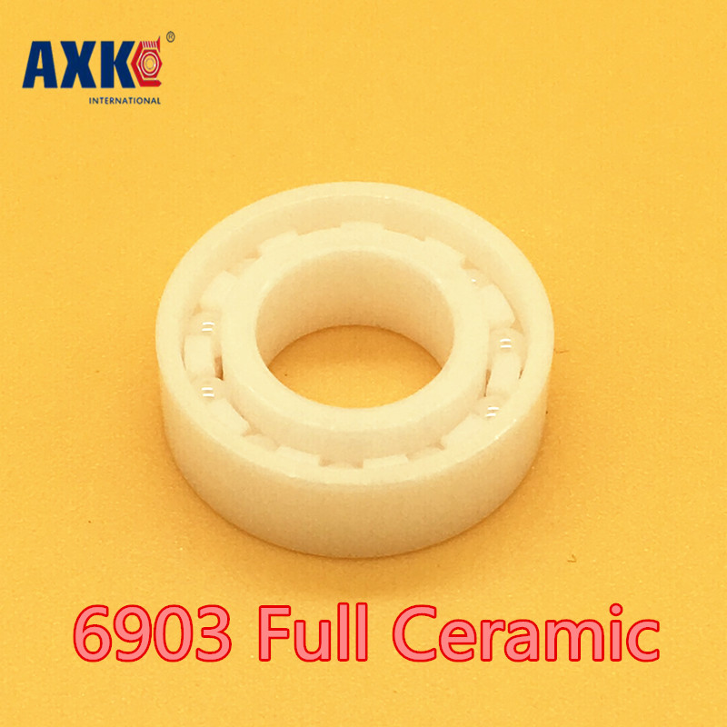 Axk 6903 Full Ceramic Bearing ( 1 Pc ) 17*30*7 Mm Zro2 Material 6903ce All Zirconia Ceramic 6903 Ball Bearings custom photo wallpaper 3d stereoscopic relief statue living room tv background wall painting wallpaper mural papel de parede 3d