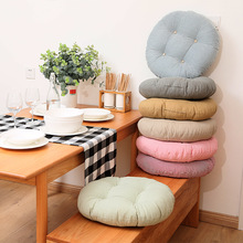 Gray Round Seat Cushion Cotton Polyester Tatami Pillow Home Decoration Car Soft Sofa Back