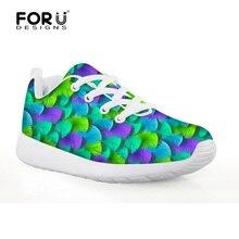 Forudesigns/спортивная обувь для детей Плюм печати для Обувь для девочек Детская Кроссовки Обувь для мальчиков Спортивная обувь из сетчатого материала Ткань дышащая обувь