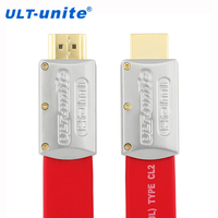 ULT Unite HD Video Flat HDMI Cable 4K 2 0 1080P 20 4Gbps High Speed Gold