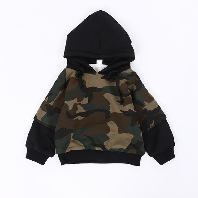 2c0e9e67eb9 DFXD Children Boys Girls Winter Long Sleeve Thick Velvet Camouflage Warm Hooded  Sweatshirts Fashion Kids Pullover Tops 2-8Years