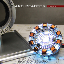 Avengers Iron Man 1/1 Scale Remote Control Arc Reactor DIY Metal Model Action Figure Glowing Iron-Man Reactor Toy Cosplay Gift