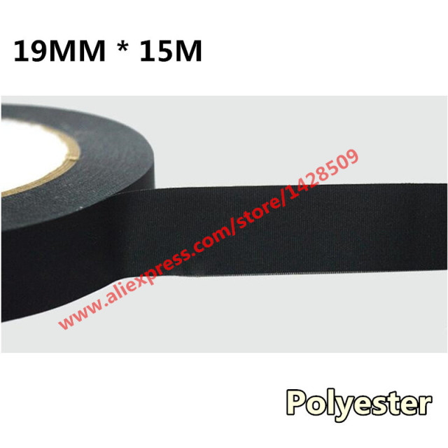 19mmx15m Universal Canvas Tape Automotive Wiring Harness Black Car Acetate Adhesive Tape Polyester Fiber Cloth Tape_640x640 19mmx15m universal canvas tape automotive wiring harness black car universal automotive wiring harness at bayanpartner.co