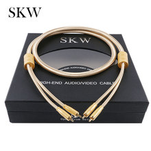 SKW Audio Cable 2RCA to 2 RCA Male to Male With Gold-plated 6N OCC 1M 1.5M 2M 3M For Home Theater Amplifier DVD TV