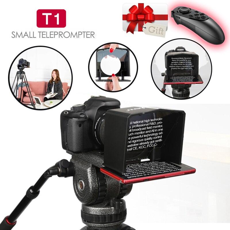 Bestview T1 Smartphone Teleprompter for Canon Nikon Sony Camera Photo Studio Video T1 Teleprompter DSLR for