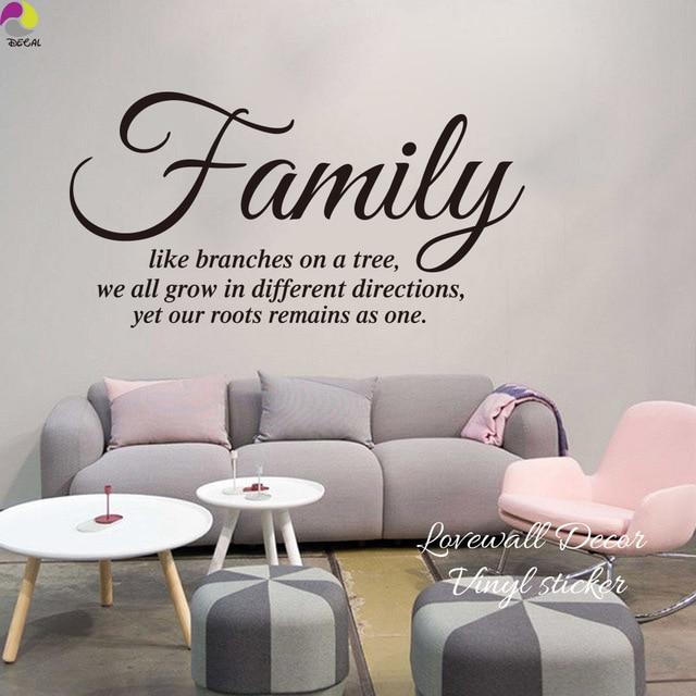 Famiglia Come Un Ramo di Un Albero Preventivo Wall Sticker ...