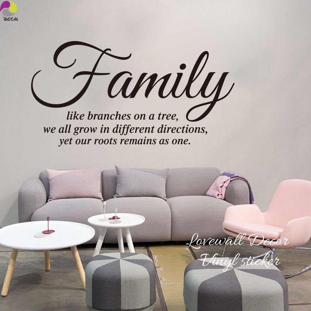 Family Like A Branch On A Tree Quote Wall Sticker Living Room ...