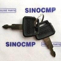2 stück Zündschlüssel für Kobelco Bagger Schwere Ausrüstung Teile-in A/c Kompressor & Kupplung aus Kraftfahrzeuge und Motorräder bei