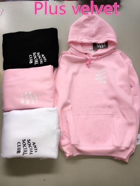 Хип-Хоп Kanye West Yeezy Черный/Белый/Розовый Руно Капюшоном Мода Killa Марка Одежды Скейт Пот Анти Социальные Social Club Агос