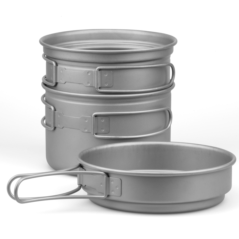 Fire-maple 1-2 Person Titanium Pots and Pans Camping Tableware Pot Sets Outdoor Cookware FMC-DP2/FMC-DP3