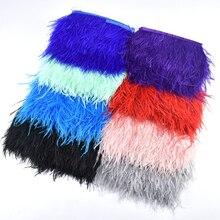 1 м/лот обрезки из натуральных перьев страуса высота 8-10 см перья для рукоделия ленты DIY свадебное платье украшения Шлейфы