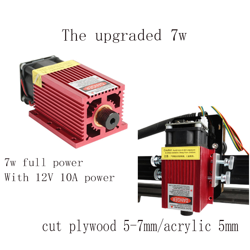 US $391 64 19% OFF|FULL power 7w laser cutting machine TTL PMW control 1*1m  work size, 5 5w 15w laser engraving machine,laser carving machine cnc-in