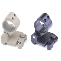 SEIGNEER Tactical 30mm Scope rail mount Flip to side QD mount Fit for 20mm rail Black/Khaki
